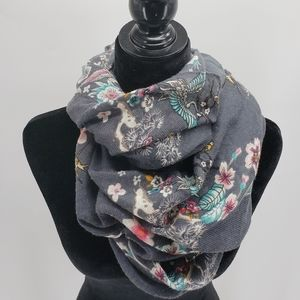 H&M | Nature Print Scarf | Gray